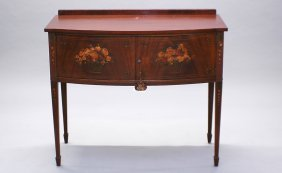 Mahogany Painted Two Door Server