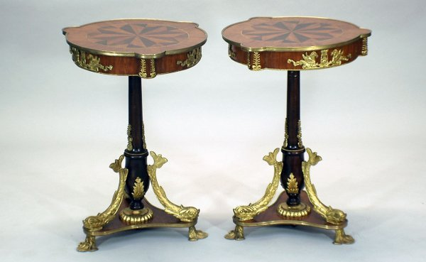 17: Pair French Neo Clasical Style Tables Dolphins