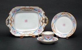 21: 36 Pc French Porcelain Partial Dessert Service