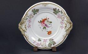 23: Antique Spode Porcelain Two Handled Floral