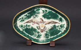 204: Chinese Export Lozenge Spoon Tray