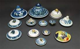 448: Thirteen Antique Chinese Export & English Pottery