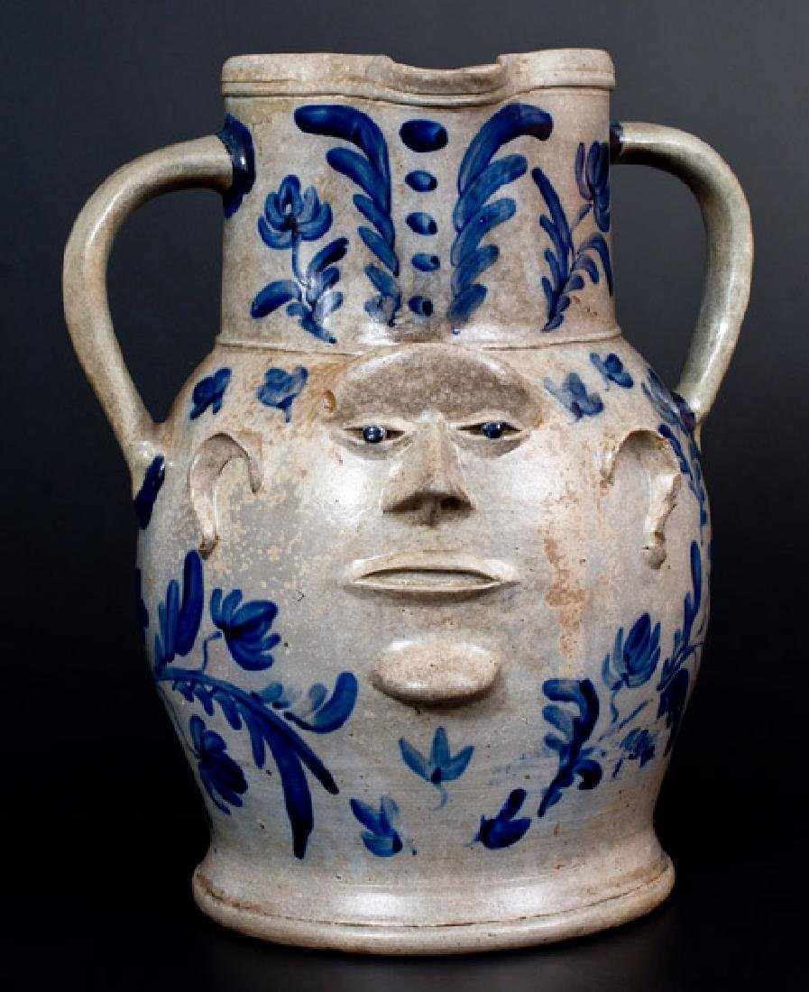 Extremely Important Monumental Stoneware Two-Sided Face