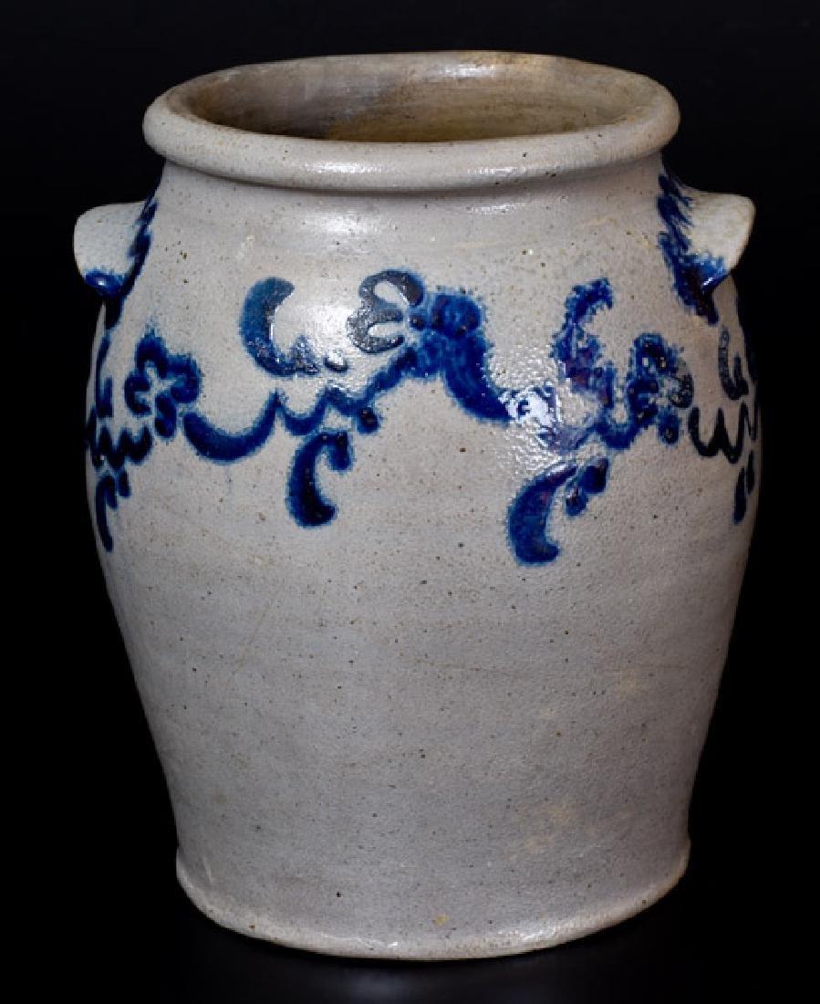 "Rare ""Morgan / Maker"" Baltimore Stoneware Jar w/"