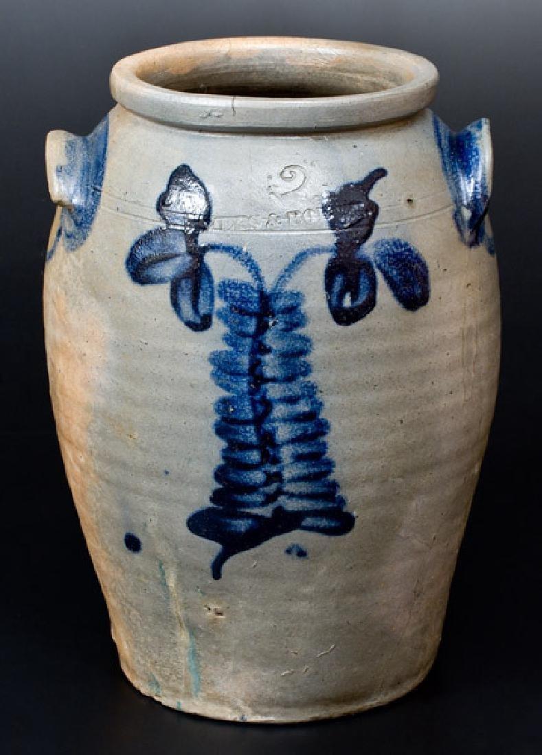 Rare MYERS & BOKEE (Baltimore) Stoneware Jar, circa