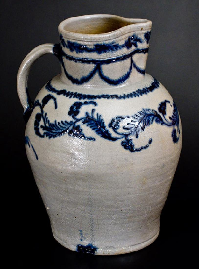Important Early Baltimore Five-Gallon Stoneware Pitcher