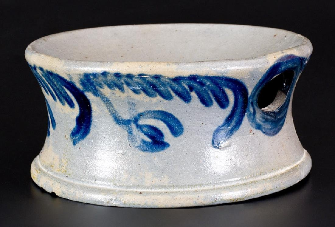 Stoneware Spittoon with Floral Decoration, Baltimore,