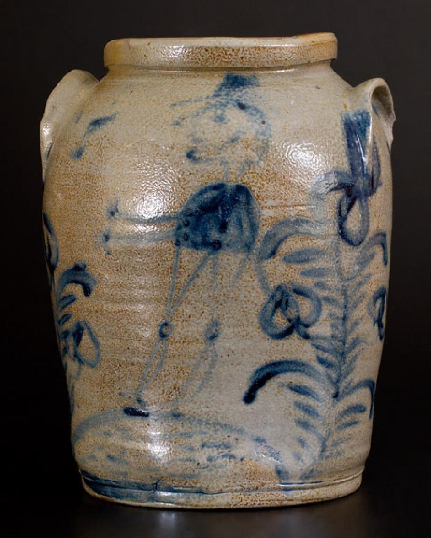 Rare Figural-Decorated Baltimore Stoneware Jar, c1825
