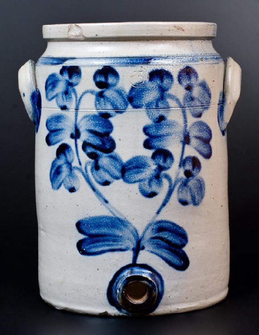 Baltimore Stoneware Water Cooler w/ Profuse Floral