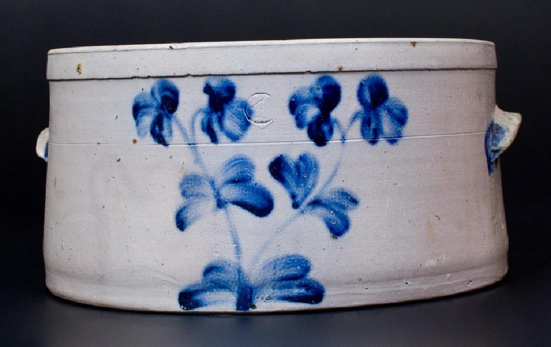 4 Gal. Baltimore Stoneware Cake Crock w/ Floral
