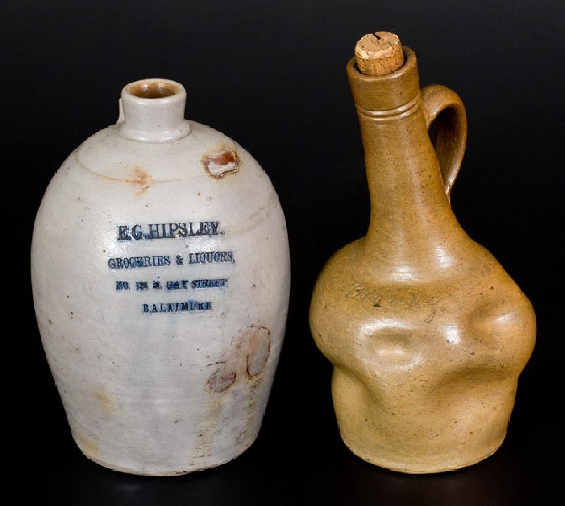Lot of Two: Baltimore, MD Liquor Jugs incl.