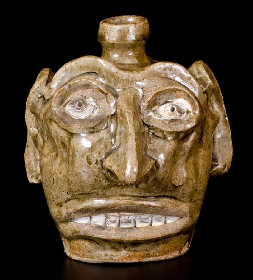 Exceptional Folk Art Face Jug, Edgefield, SC, circa