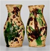 Extremely Rare Pair of Shenandoah Valley Multi-Glazed