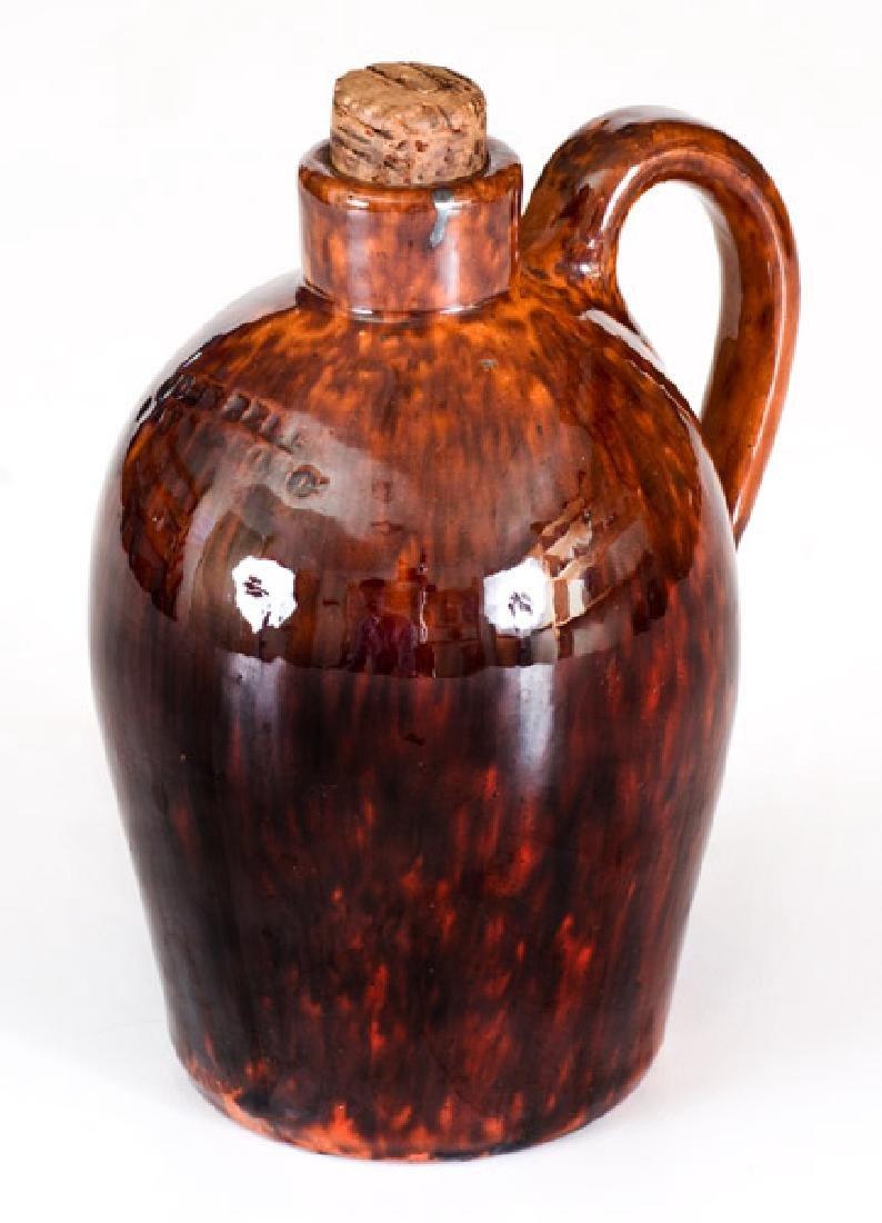 Fine Small-Sized John Bell / Waynesboro Redware Jug