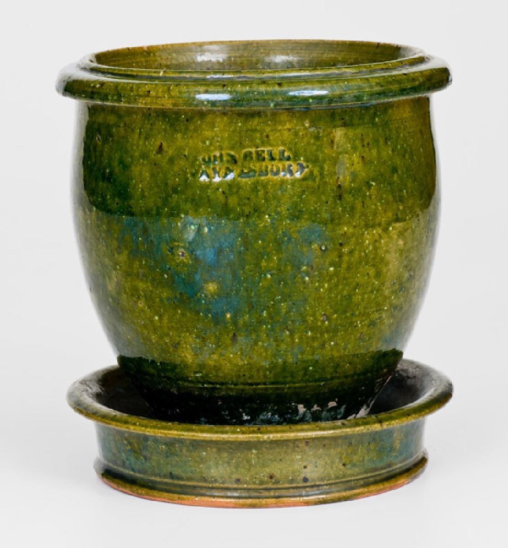 Rare JOHN BELL / WAYNESBORO Copper-Glazed Redware