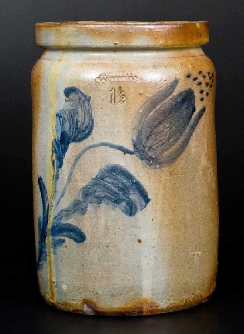 JOHN BELL / WAYNESBORO, PA Stoneware Jar w/ Cobalt