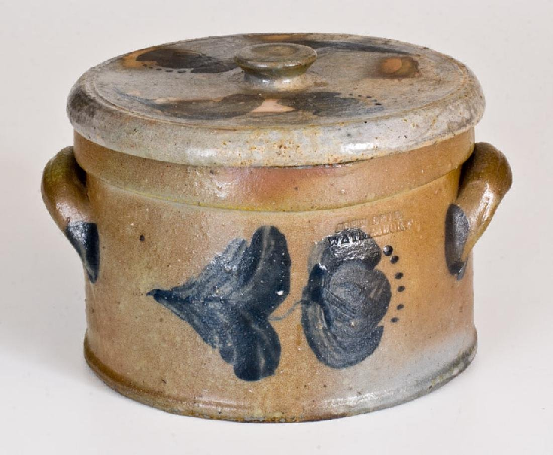 Half-Gallon JOHN BELL / WAYNESBORO Lidded Stoneware