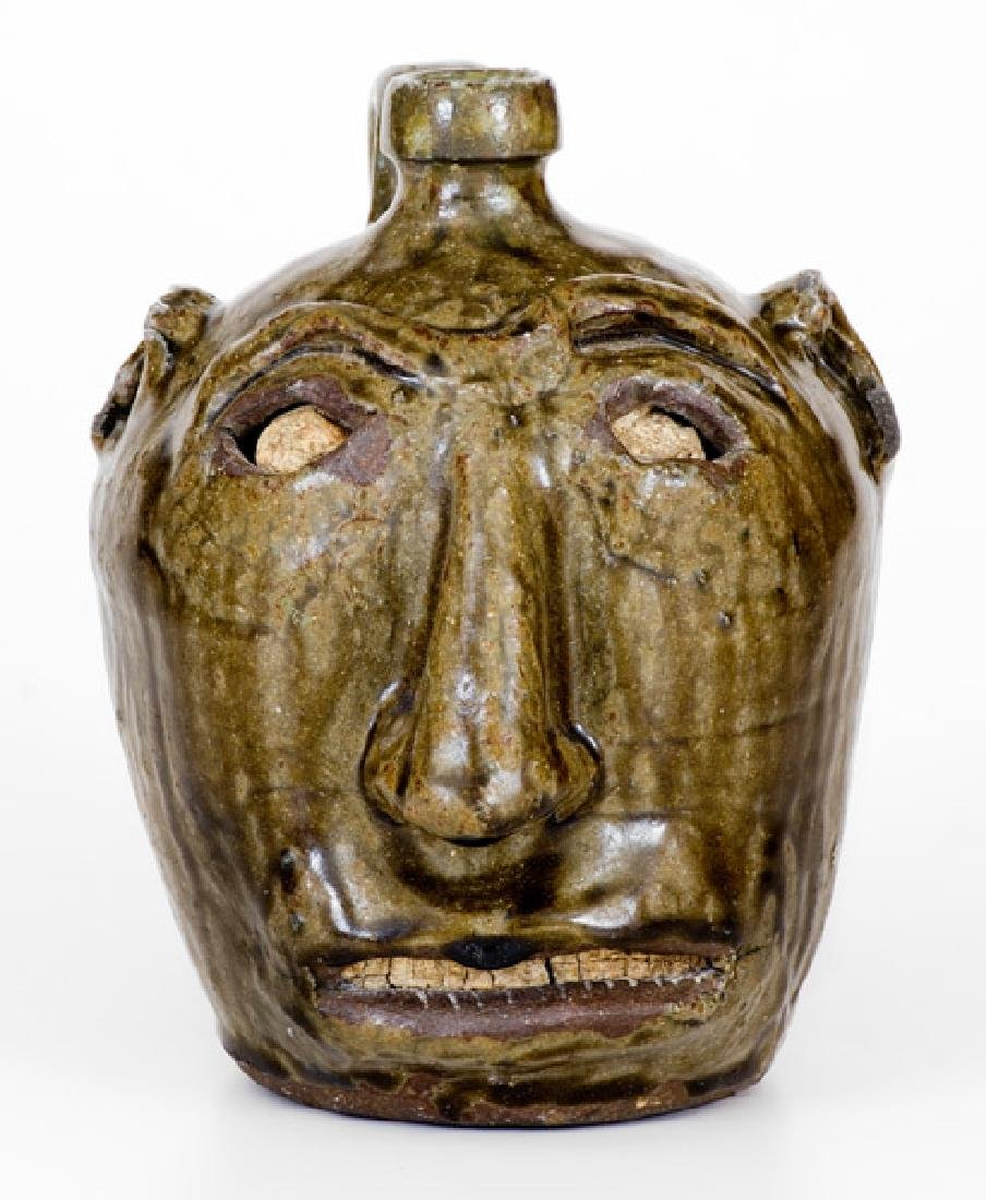 Exceptional Edgefield, South Carolina, Stoneware Face