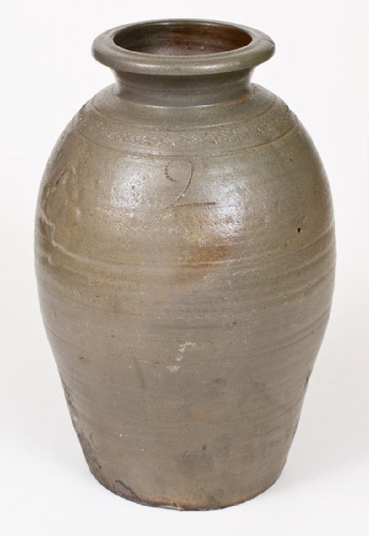 Fine Stoneware Jar w/ Coggled Design att. W. H.