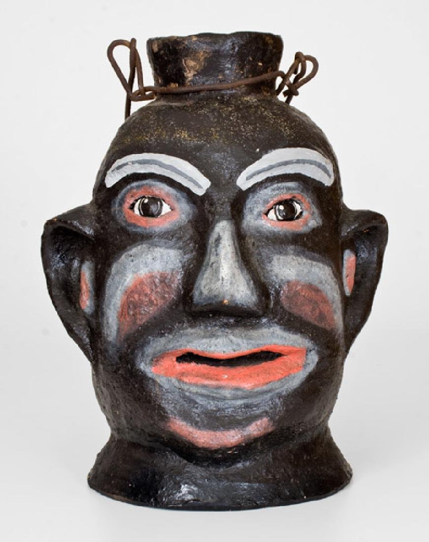 Rare Painted Face Jug, North Wilkesboro, NC, origin,