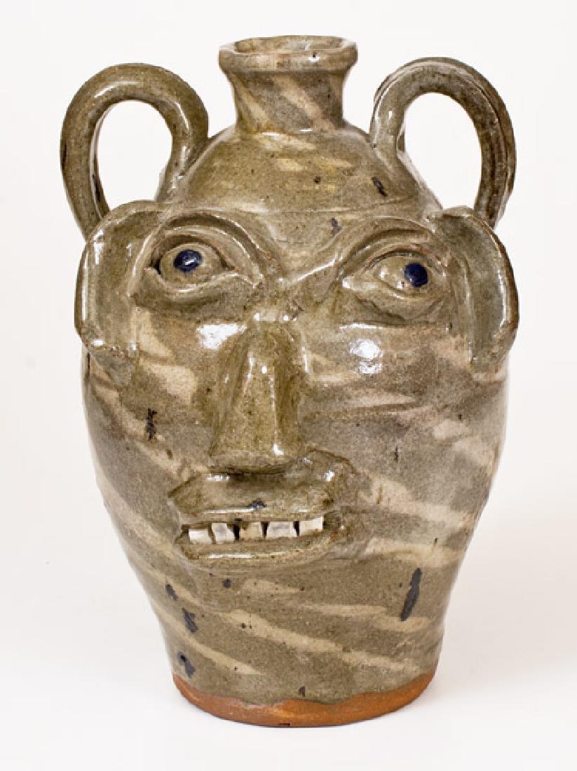 Double-Handled B.B. CRAIG / VALE, N.C. Stoneware Face