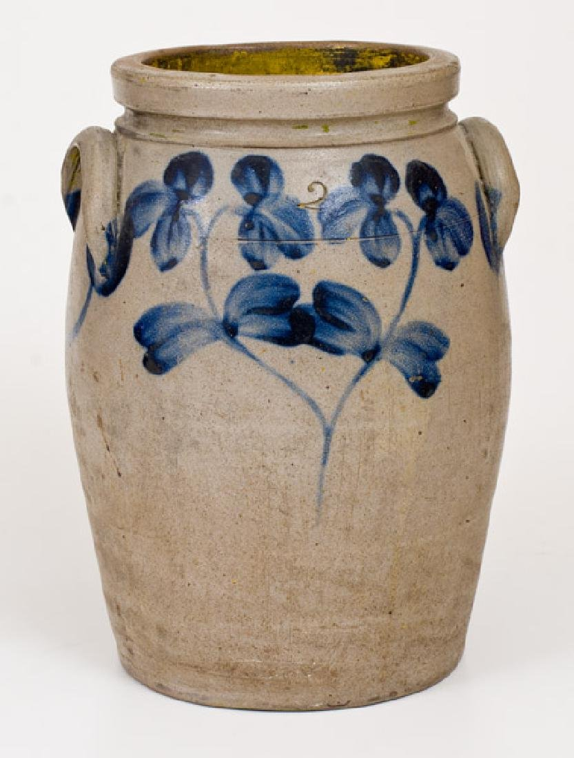 2 Gal. Stoneware Jar with Floral Decoration, Baltimore,