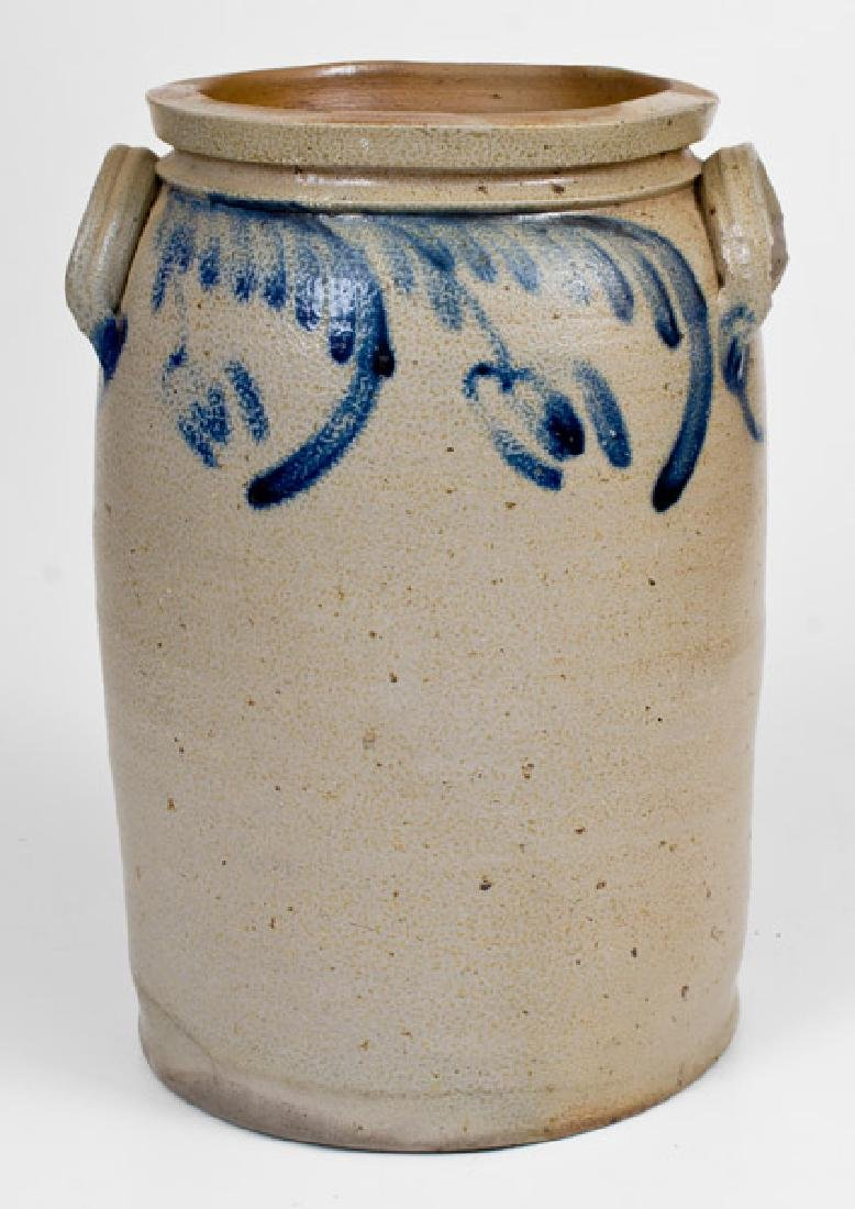 3 Gal. Stoneware Jar with Floral Decoration, Baltimore,