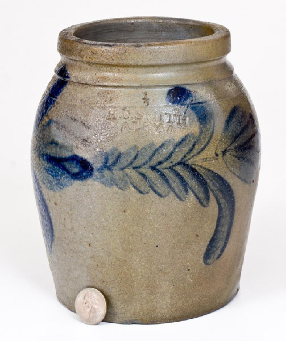 Half-Gallon H. C. SMITH / ALEXA. / D.C. Stoneware Jar