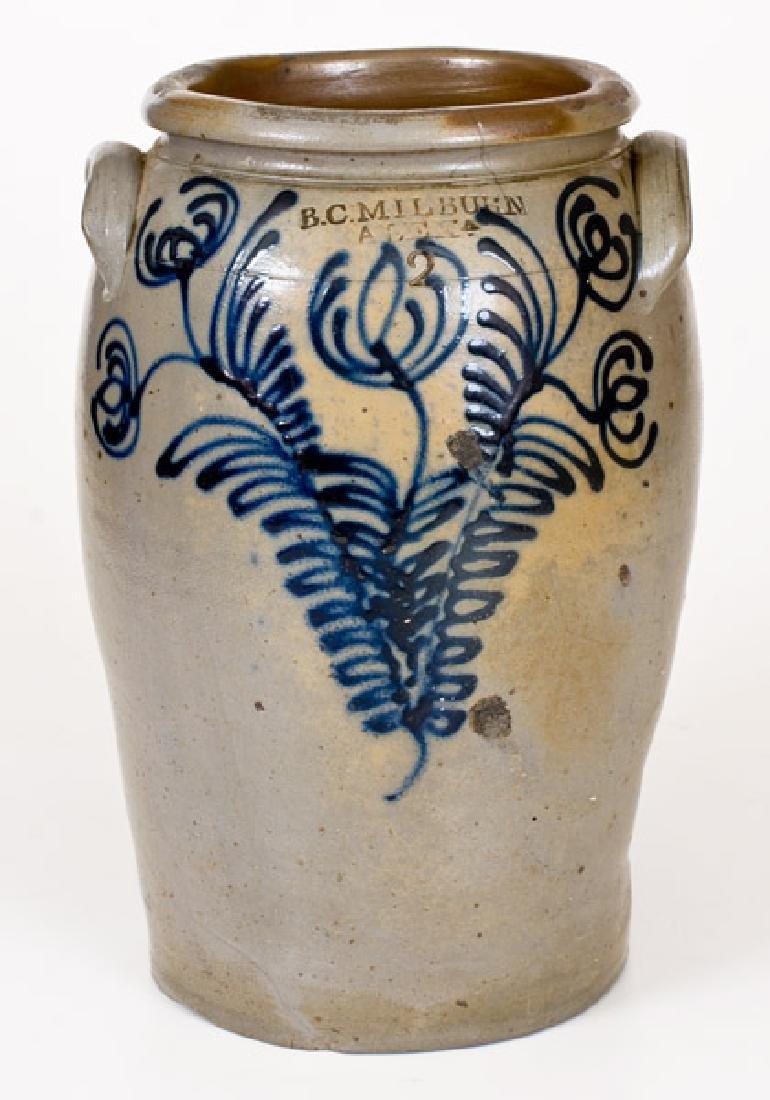 Fine B. C. MILBURN / ALEXA. Stoneware Jar with