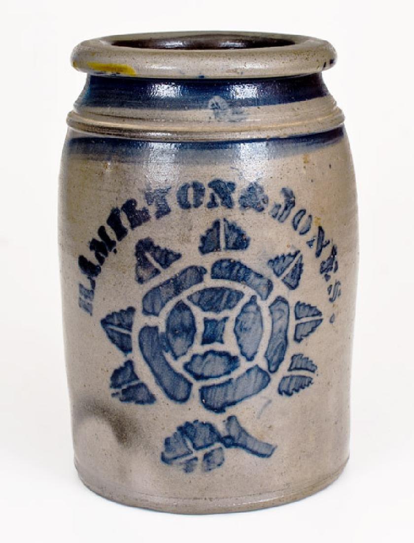 HAMILTON & JONES (Greensboro, PA) Stoneware Jar w/
