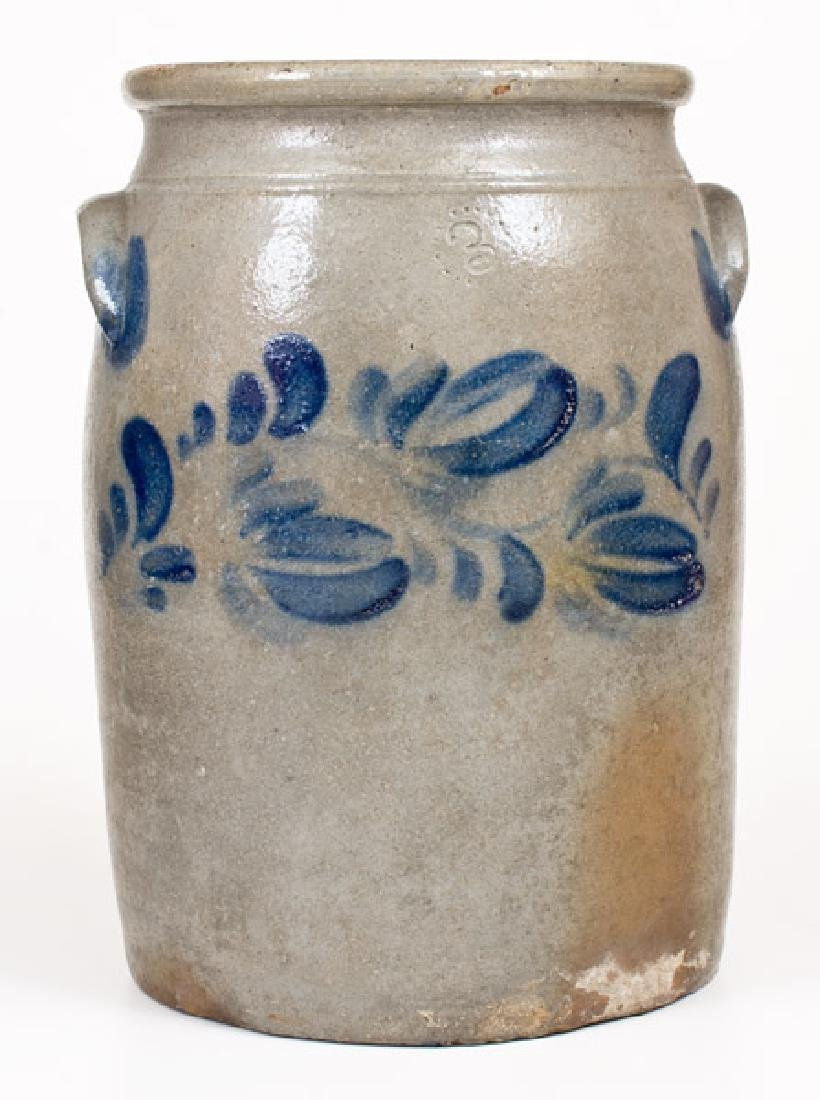 3 Gal. Stoneware Jar with Floral Decoration attrib.