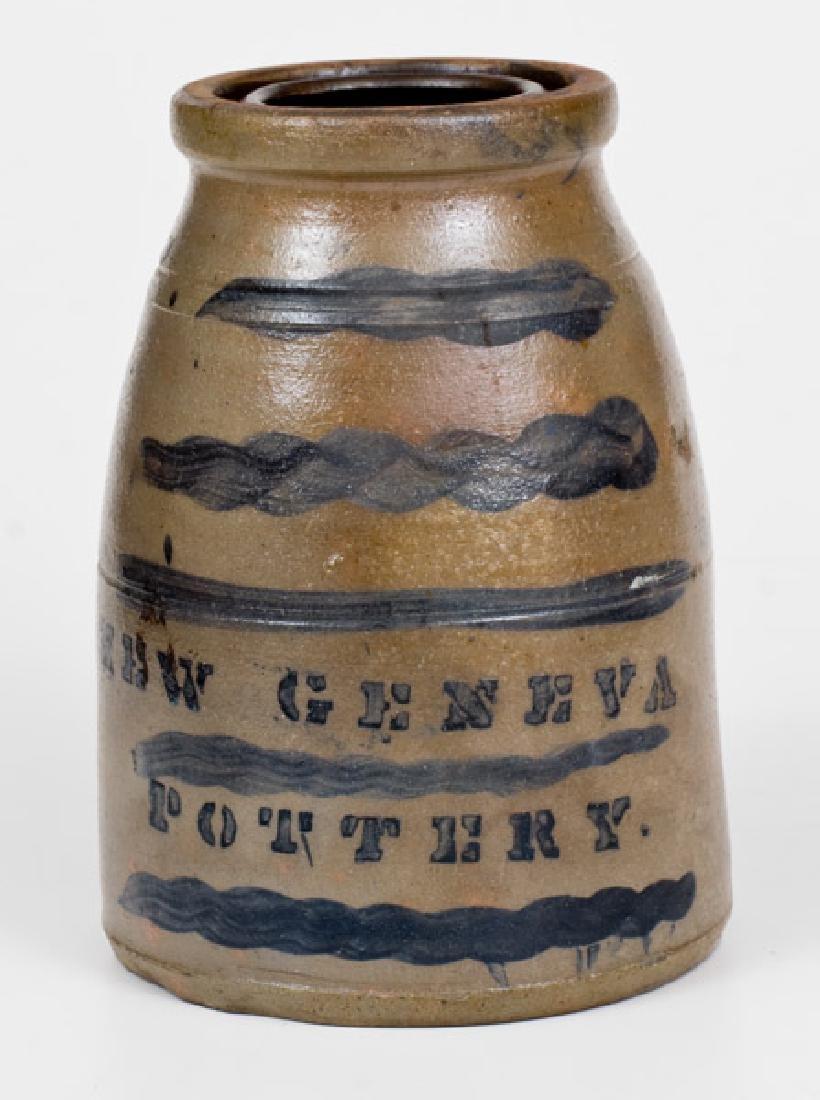 NEW GENEVA POTTERY Stoneware Wax Sealer with Striped