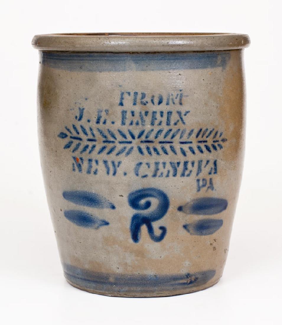 2 Gal. FROM J. E. ENEIX / NEW GENEVA, PA Stoneware