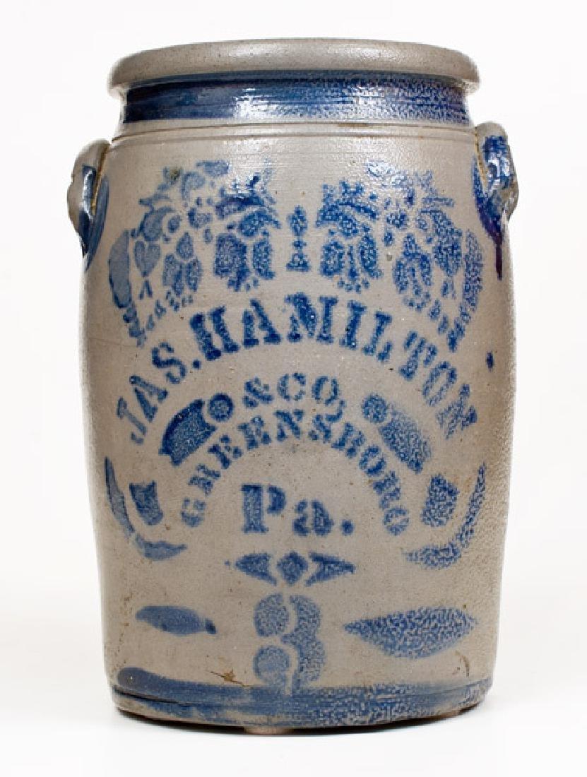 3 Gal. JAS. HAMILTON & CO. / GREENSBORO, PA Stoneware