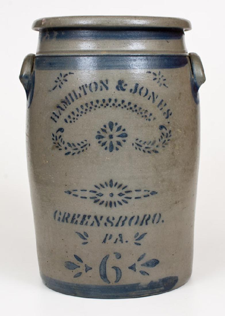 HAMILTON & JONES / GREENSBORO, PA Stoneware Jar with