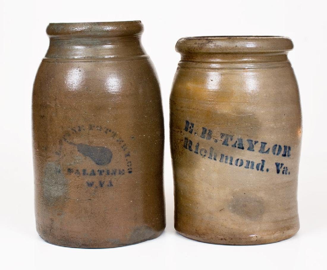 Lot of Two: PALATINE POTTERY CO. / WV and E. B. TAYLOR