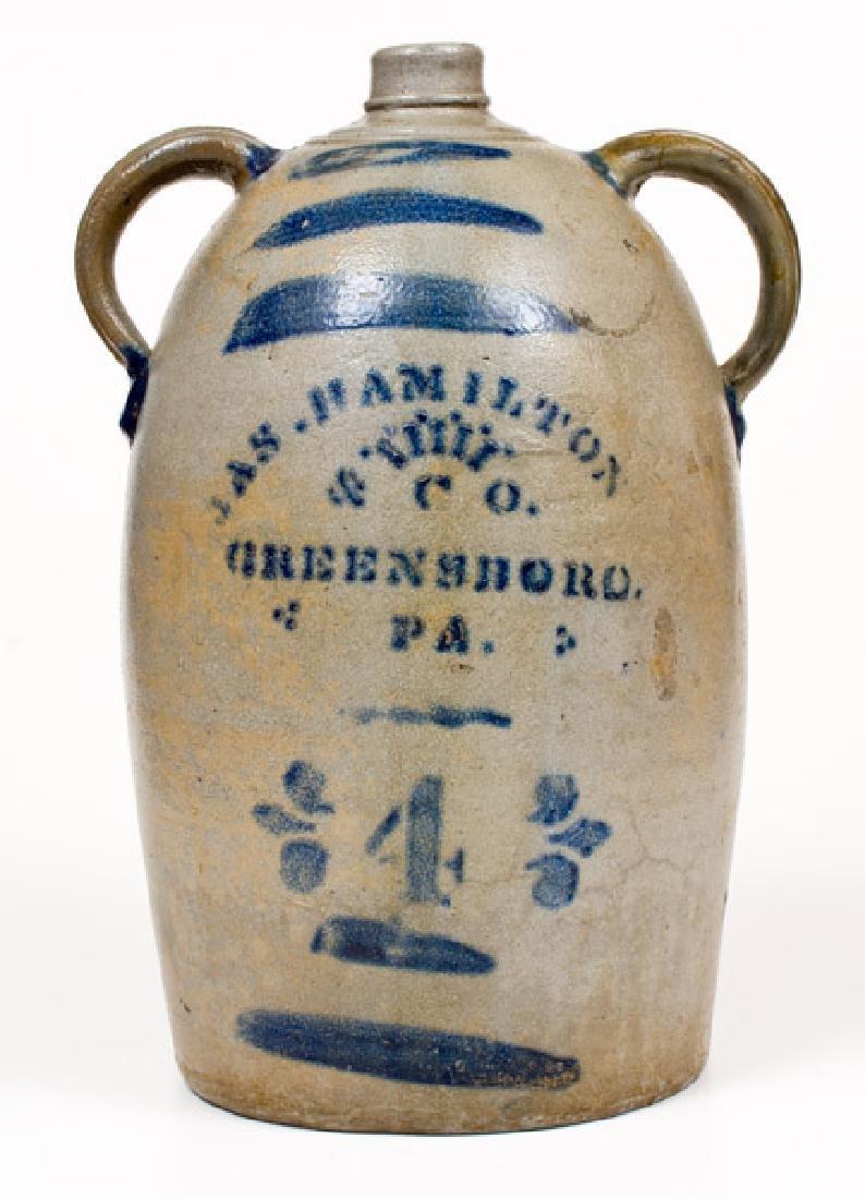4 Gal. JAS. HAMILTON & CO. / GREENSBORO, PA Stoneware