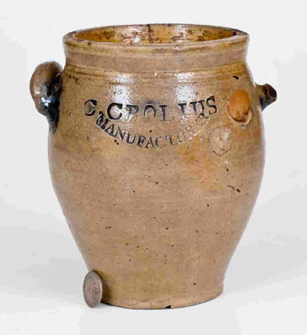 C. CROLIUS / MANUFACTURER (Manhattan, NY) Stoneware Jar