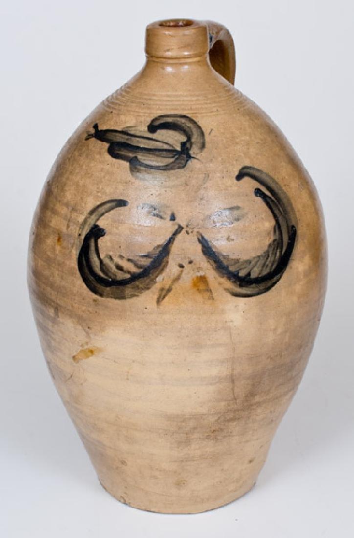 Four-Gallon Stoneware Jug w/ Floral Decoration, Abial