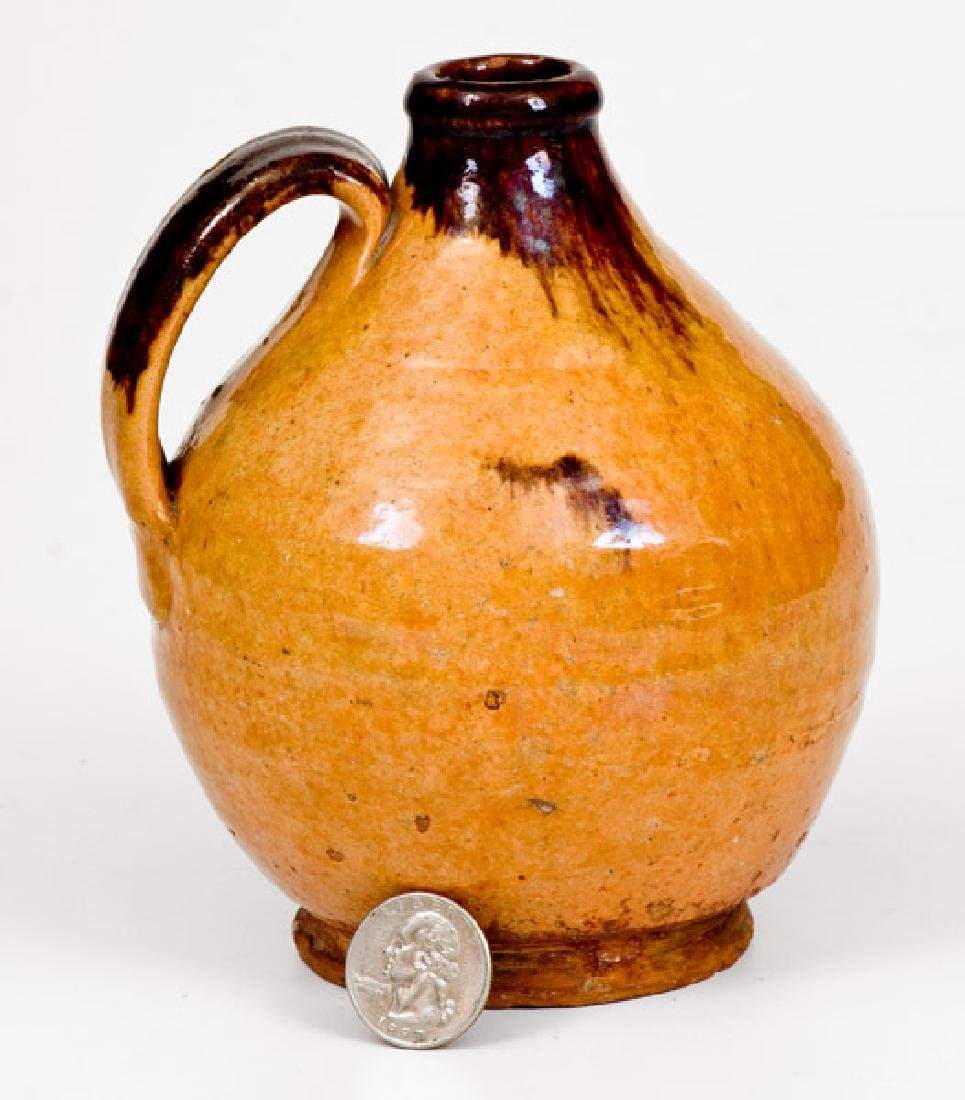 Outstanding Small-Sized New England Redware Jug