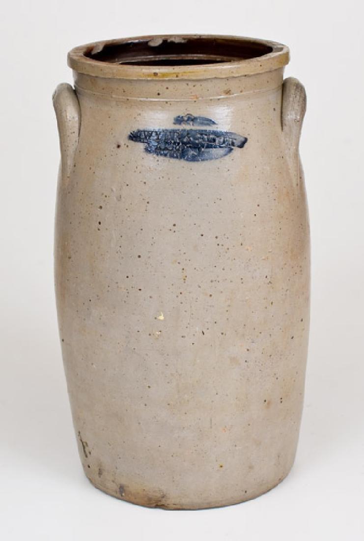Rare SAWYER & SMITH / AKRON, OH Stoneware Churn with