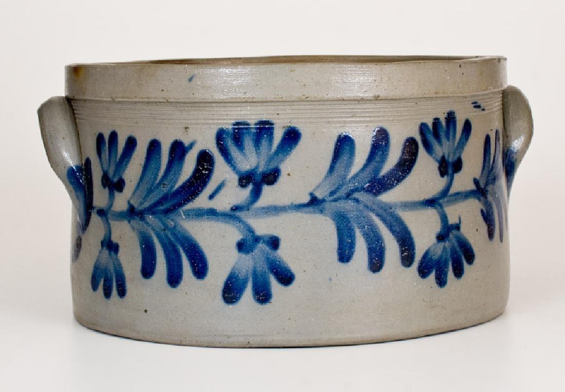 1 1/2 Gal. Stoneware Cake Crock w/ Floral Decoration