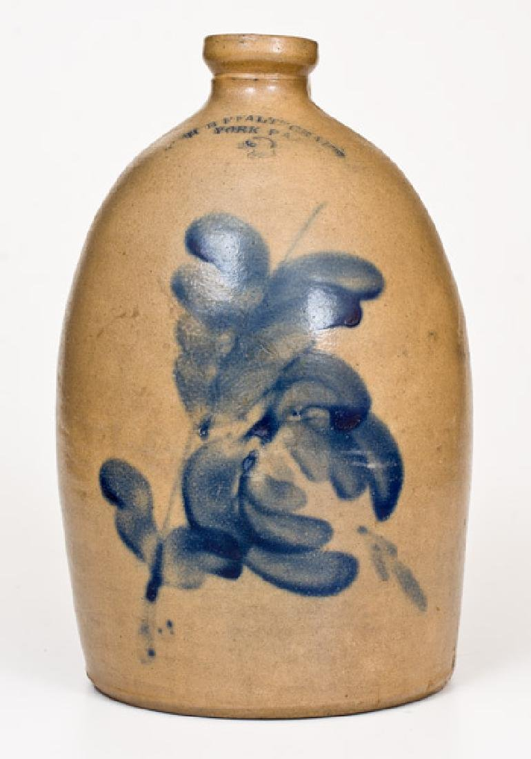 2 Gal. H. B. PFALTZGRAFF / YORK, PA Stoneware Jug with