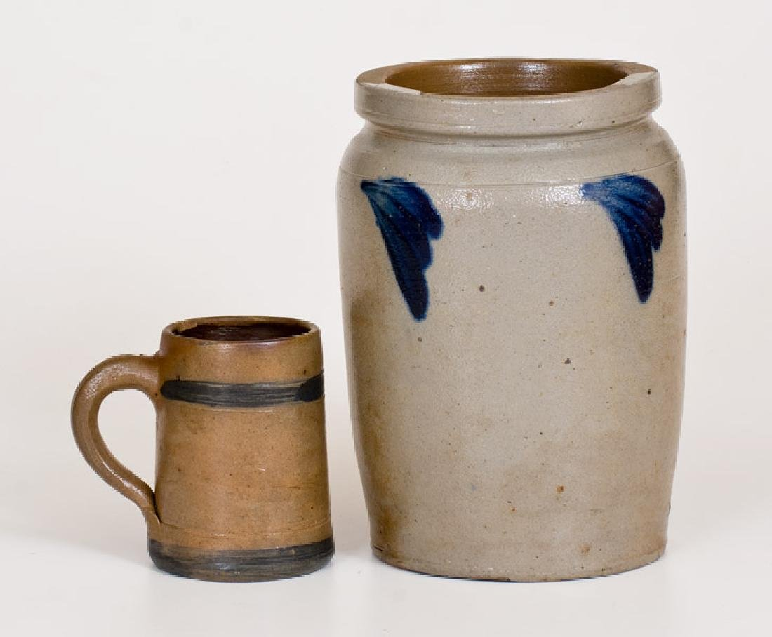 Two Pieces of American Stoneware, second half 19th
