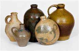 Lot of Five Assorted Stoneware incl European and
