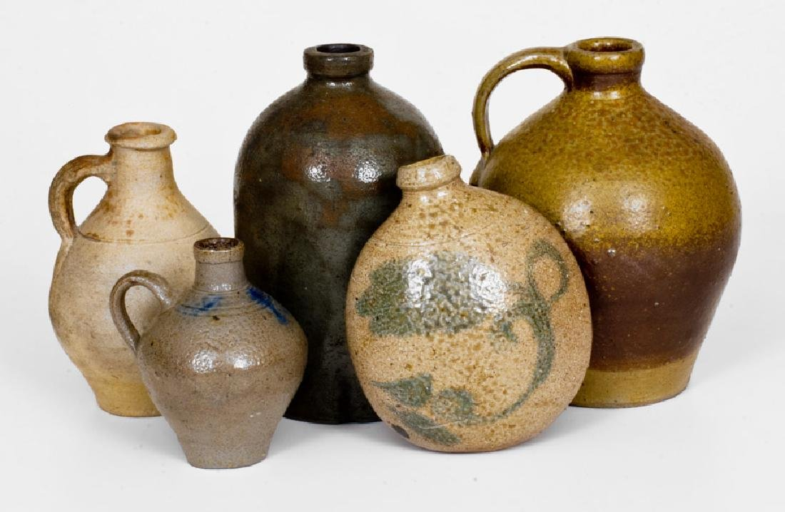 Lot of Five: Assorted Stoneware incl. European and