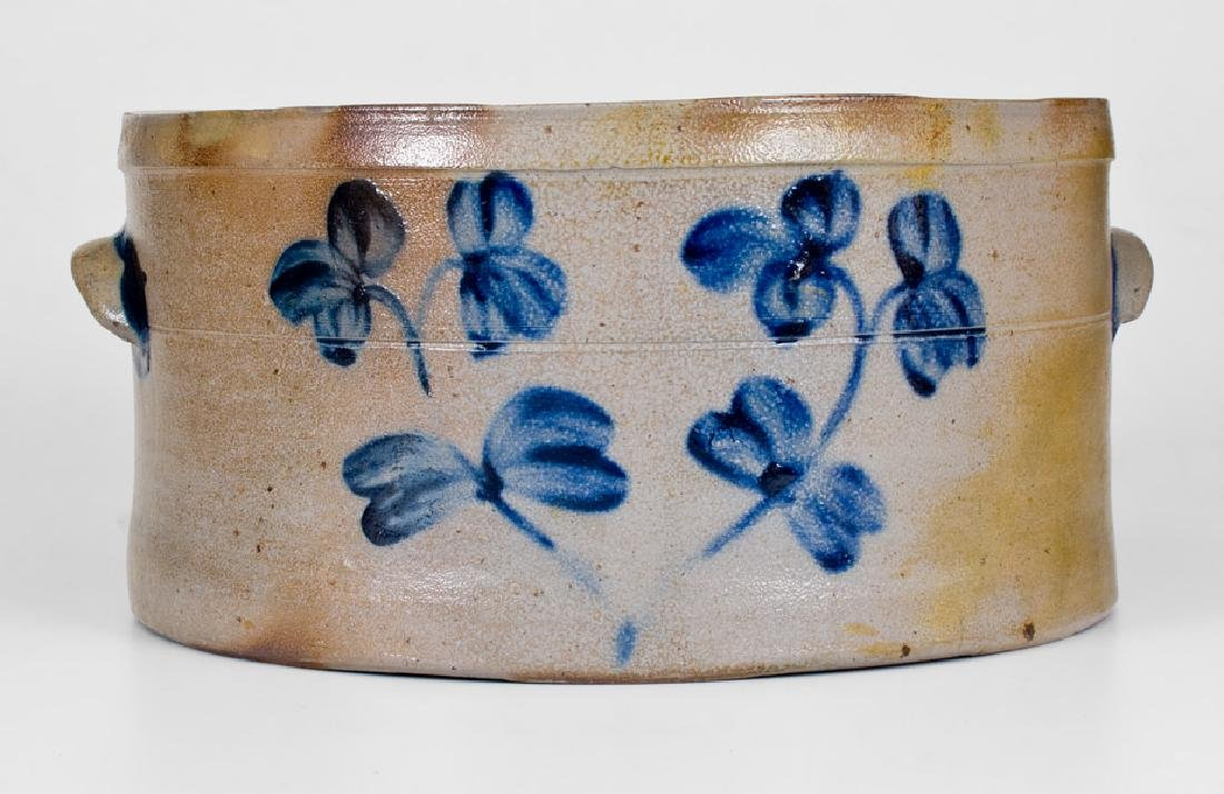 3 Gal. Baltimore Stoneware Cake Crock with Floral