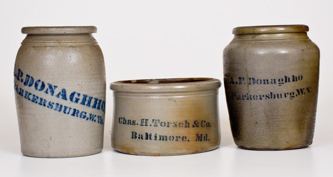 Lot of Three: Chas. H. Torsch / Baltimore Butter Crock,