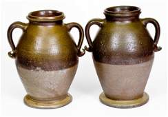 Rare Pair of Stoneware Vases, attributed to George