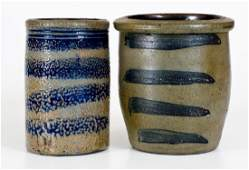 Lot of Two Western PA Stoneware Jars with Striped